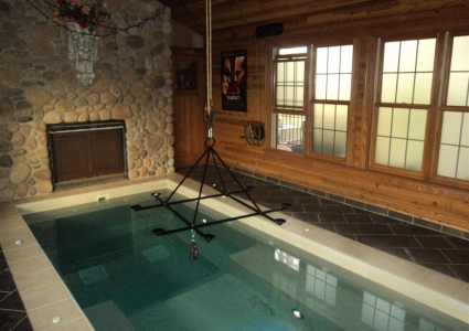 Wisconsin family vacations with children and pets at the best resort style hotel looking type of vacation rental in winter