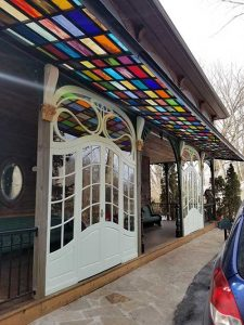 custom glass canopy design commercial and for home